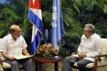 Raúl y Graziano da Silva dialogaron sobre el quehacer de la FAO y la voluntad del Gobierno cubano de profundizar la cooperación con esta Organización.