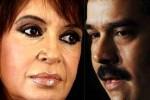Cristina Fernández y Nicolás Maduro.