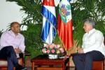 Díaz Canel expresó a Lomothe la satisfacción por su presencia en Cuba.
