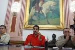 """Maduro denunció que """"desde Bogotá hay una conspiración activa contra el Gobierno legítimo y la paz de Venezuela""""."""