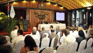 Acto de inauguración de la Reunión del Parlamento Latinoamericano.