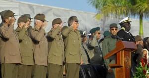 Raúl  presidió el acto político y ceremonia militar de graduación Aniversario 60 del asalto a los cuarteles Moncada y Carlos Manuel de Céspedes.