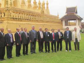 Díaz-Canel concluye en Laos esta gira por naciones asiáticas.
