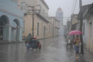 Entre las ocho de la mañana y las dos de la tarde de este sábado, en Sancti Spíritus se reportaron 70 mm de lluvias.