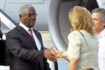 Manuel Pinto Da Costa arribó a Cuba el sábado.