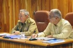 El General de Ejército Raúl Castro Ruz presidió la reunión del Consejo de Ministros.