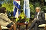 La visitante expresó su satisfacción por la marcha de los programas que desarrolla el PMA en la isla.