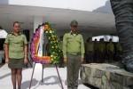 Los nuevos oficiales del MININT depositaron una ofrenda floral ante el monumento al Mayor General Serafín Sánchez Valdivia.