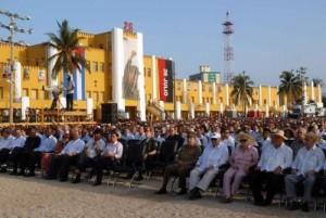 Mandatarios de América Latina y del Caribe acompañaron al pueblo santiaguero este 26 de julio.