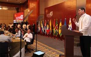 Durante la apertura del Cumbre del ALBA, Correa cuestionó  el papel de la OEA.