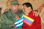 La amistad y el cariño de Chávez y de Fidel fue captada por el lente de Raúl Abreu.