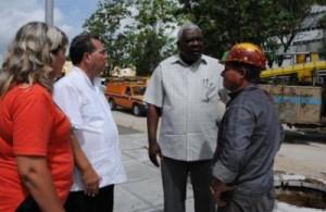 El presidente de la Asamblea Nacional del Poder Popular constató la marcha de importantes obras de sociales en el territorio.