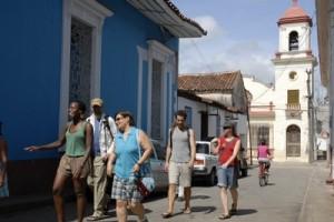 Caravanistas en Trinidad durante una de sus anteriores visitas.