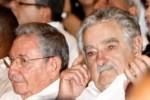 Raúl estuvo acompañado por el presidente uruguayo, José Mujica, y otros líderes caribeños.