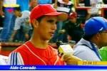 Aldo tiene el mérito de haber participado en el 2011 en el XIV Mundial de la categoría 15-16 años.