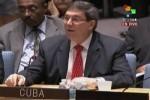 El canciller cubano Bruno Rodríguez interviene en el Consejo de Seguridad de la ONU.
