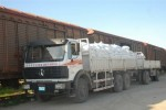 Estos camiones aseguran la distribución de varios de los productos que deciden la economía de la provincia.
