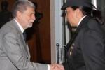 En su primera visita a Brasil como titular de este ramo, Teresa Meléndez se reunió con Amorim.