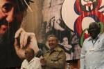 Raúl compartió con los delegados al Congreso cederista.