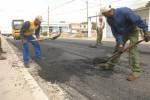 El tramo de la Carretera Central en Jatibonico fue una de las vías beneficiadas durante el primer semestre del año.