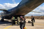 El avión con ayuda humanitaria para los refugiados sirios enviado por el ALBA hizo su última parada en Grecia antes de arribar este lunes al Líbano. (Foto: Telesur).