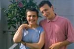Fabio Di Celmo junto a su mama Ora Bassi.
