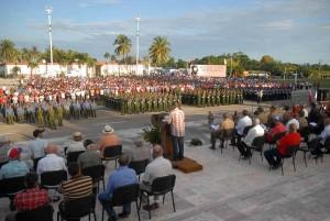 Vista del acto conmemorativo del aniversario 55 de la creación del Frente Norte.