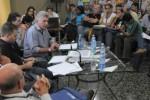 Miguel Díaz-Canel Bermúdez compartió con los delegados en la primera jornada de trabajo del II Congreso de la AHS.