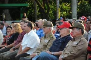 La conmemoración estuvo presidida por el Comandante de la Revolución Ramiro Valdés Menéndez, miembro del Buró Político del  Partido y vicepresidente de los Consejos de Estado y de Ministros.