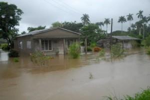 La lluvia ha penetrado en decenas de viviendas del poblado de Seibabo.