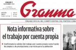 """Granma publica este sábado una """"Nota informativa sobre el trabajo por cuenta propia""""."""