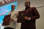 Los ministros Rodrigo Malmierca (Cuba) y Alejandro Fleming (Venezuela) firmaron un acuerdo de complementación económica entre ambos países.