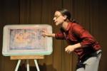 En la obra un mismo actor encarna nueve personajes pintorescos.