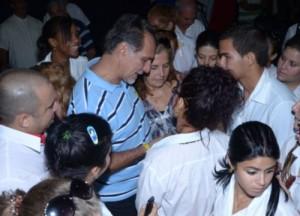 René González departió con  alumnos y profesores se la Universidad de Ciencias Médicas Doctor Faustino Pérez. (foto: Gerardo Legón)