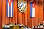 Gladys Bejerano presentó un informe de su organismo a los diputados al parlamento cubano.