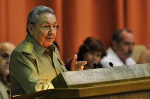 Raúl durante las palabras de clausura del Segundo Período Ordinario de Sesiones del Parlamento cubano.