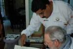 Fidel y Maduro durante su encuentro de este sábado en La Habana.