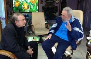 Fidel y Ramonet en La Habana el 13 de diciembre de 2013.