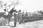 La aguerrida infantería mambisa a las órdenes del Generalísimo en La Reforma.