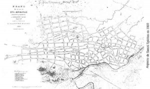 Plano de la villa de Sancti Spíritus -1860