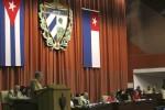 Raúl en la clausura de la Asamblea Nacional del Poder Popular.
