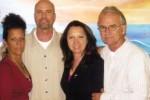 Gerardo junto a su hermana Isabel, Alicia Jrapko y el fotógrafo y activista norteamericano Bill Hackwell.