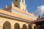 Torre campanario del Museo de Lucha Contra Bandidos, después de su restauración.