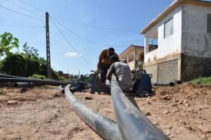 Actualmente se instalan nuevas redes hidráulicas en el Reparto Plaza.