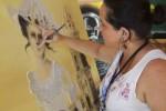La artista refleja en las obras a su Trinidad.