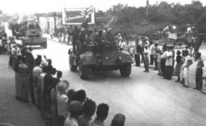 La caravana llegó a Sancti Spíritus el 5 de enero de 1959.