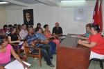 Autoridades del Partido y el Gobierno en la provincia compartieron con el colectivo.
