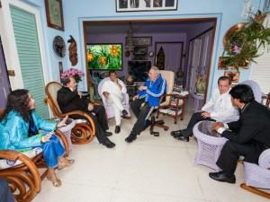 Encuentro de Fidel con Evo, Correa y Daniel en La Habana, el 29 de enero de 2014. Foto: Alex Castro
