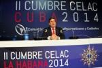 Canciller cubano inaugura Sala de Prensa de la II Cumbre de la CELAC.
