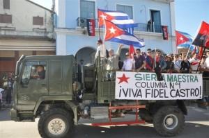 El pueblo espirituano recibió a los jóvenes que reeditaron aquel histórico suceso cuando el Comandante Fidel Castro llegó por primera vez a la villa del Yayabo.